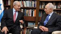 Shimon Pérès et Benyamin Netanyahu