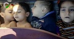 Enfants syriens morts suite aux frappes du régime avec le gaz sarin