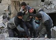 Bombardemenrs russe en Syrie- Victimes civiles