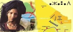 Carte de l'Azawad, territoire des Touareg