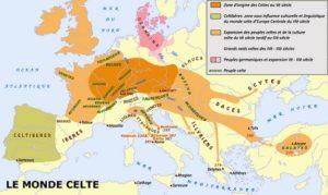 carte du monde Celte